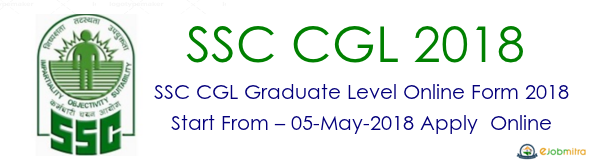 SSC CGL 2018 Graduate Level Online Application Form