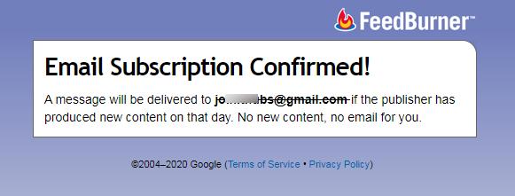 FeedBurner_Email_Subscription_Confirmed