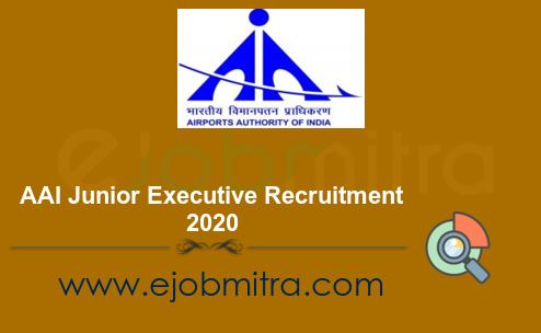 AAI Junior Executive Recruitment 2020