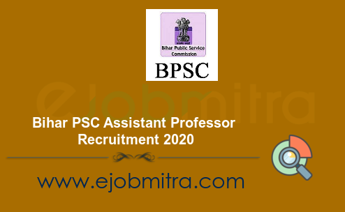 Bihar PSC Assistant Professor Recruitment 2020