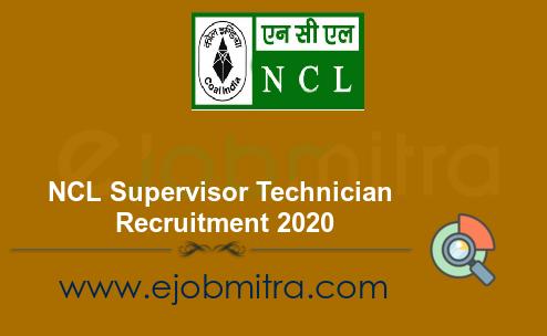 NCL Supervisor Technician Recruitment 2020