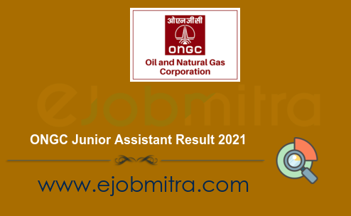 ONGC Junior Assistant Result 2021