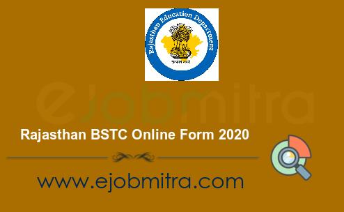 Rajasthan BSTC Online Form 2020