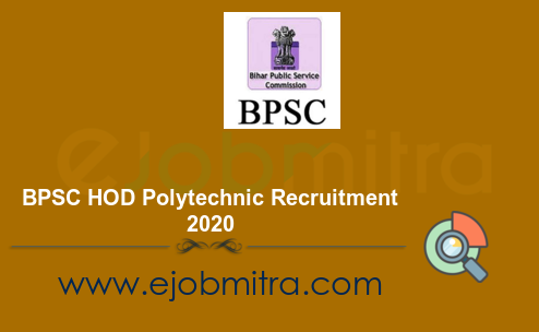 BPSC HOD Polytechnic Recruitment 2020