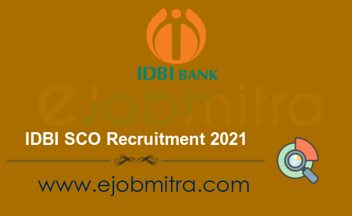 IDBI SCO Recruitment 2021