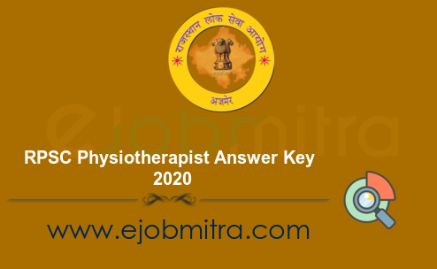 RPSC Physiotherapist Answer Key 2020