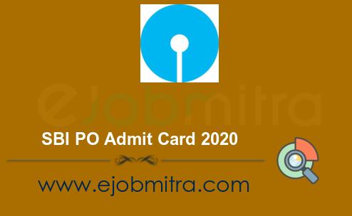 SBI PO Admit Card 2020