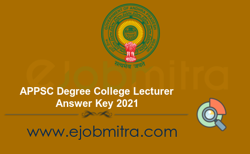 APPSC Degree College Lecturer Answer Key 2021
