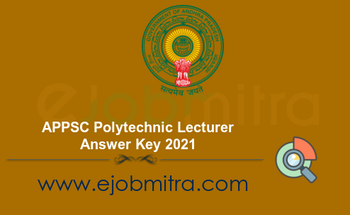 APPSC Polytechnic Lecturer Answer Key 2021