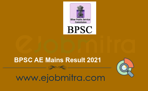 BPSC AE Mains Result 2021