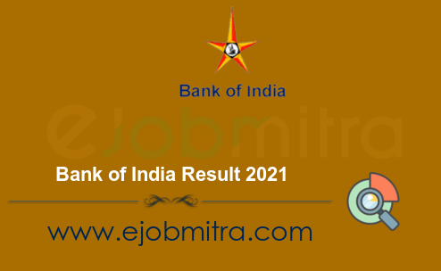 Bank of India Result 2021