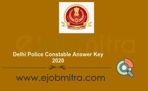 Delhi Police Constable Answer Key