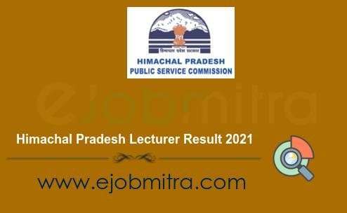 Himachal Pradesh Lecturer Result 2021