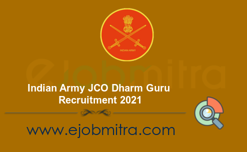 Indian Army JCO Dharm Guru Recruitment 2021