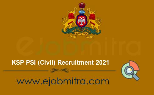 KSP PSI (Civil) Recruitment 2021