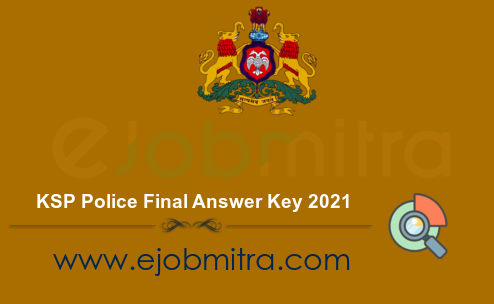 KSP Police Final Answer Key