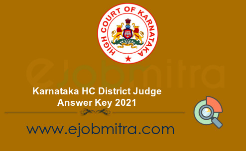 Karnataka HC District Judge Answer Key 2021