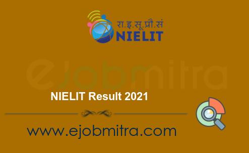 NIELIT Result 2021