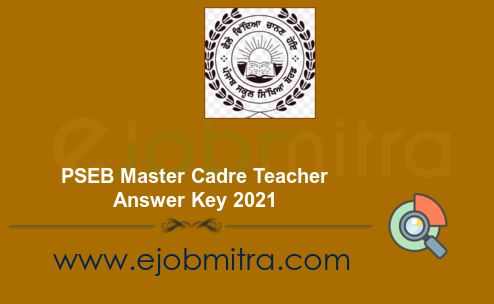 PSEB Master Cadre Teacher Answer Key 2021