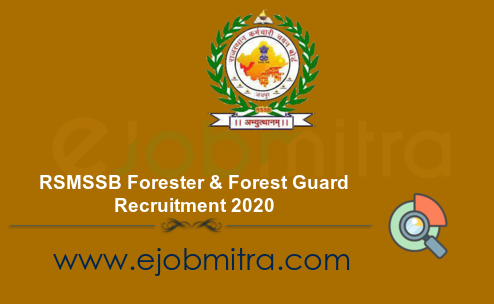 RSMSSB Forester and Forest Guard Recruitment 2020
