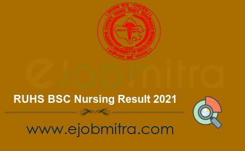 RUHS BSC Nursing Result 2021
