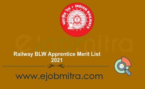 Railway BLW Apprentice Merit List 2021