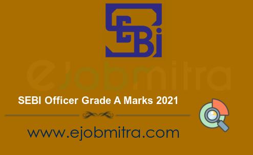 SEBI Officer Grade A Marks 2021