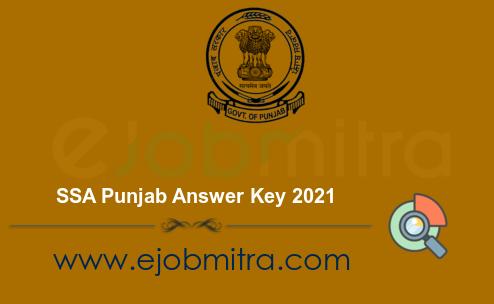 SSA Punjab Answer Key 2021