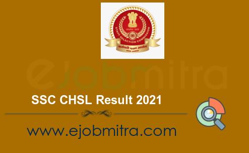 SSC CHSL Result 2021
