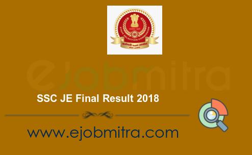 SSC JE Final Result 2018
