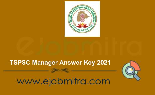 TSPSC Manager Answer Key 2021