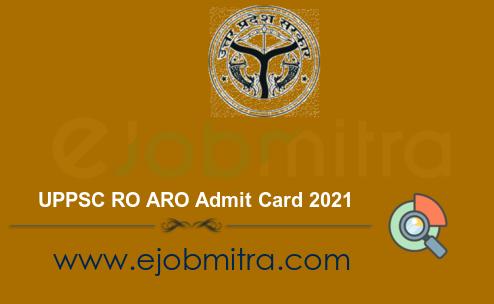 UPPSC RO ARO Admit Card 2021