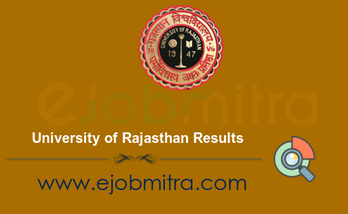 University of Rajasthan Result