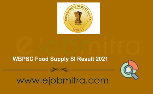 WBPSC Food Supply SI Result 2021