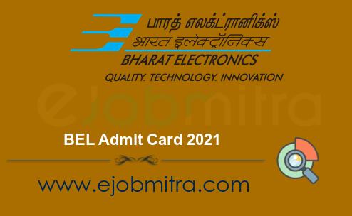 BEL Admit Card 2021
