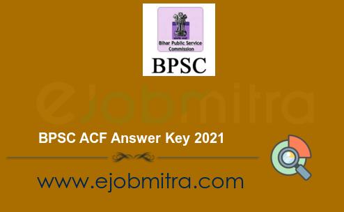 BPSC ACF Answer Key 2021