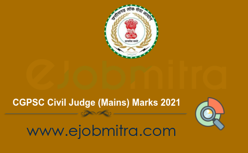 CGPSC Civil Judge (Mains) Marks 2021