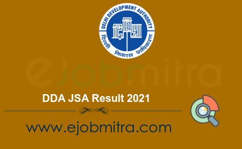 DDA JSA Result 2021