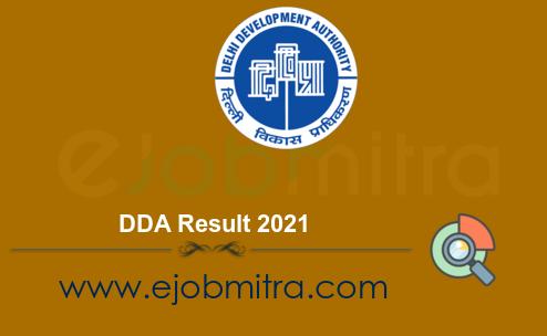 DDA Result 2021