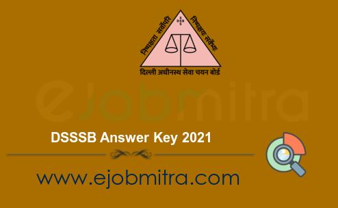 DSSSB Answer Key 2021