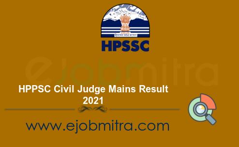 HPPSC Civil Judge Mains Result 2021