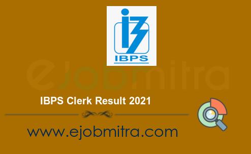IBPS Clerk Result 2021