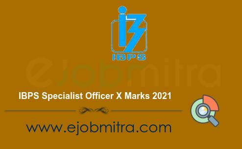 IBPS Specialist Officer X Marks