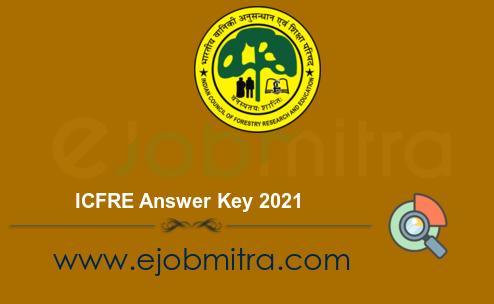 ICFRE Answer Key 2021