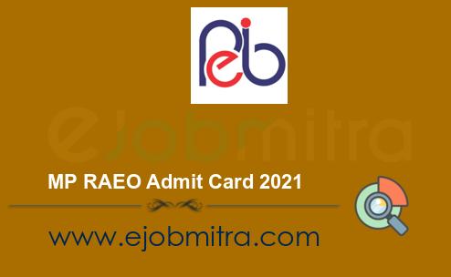 MP RAEO Admit Card 2021