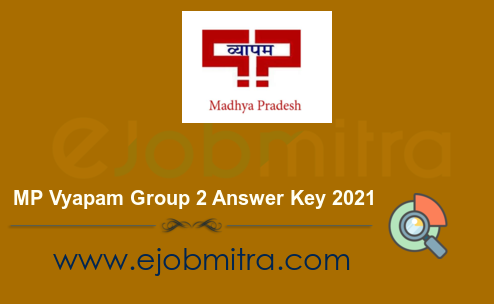 MP Vyapam Group 2 Answer Key 2021