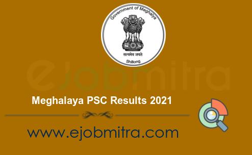 Meghalaya PSC Results 2021