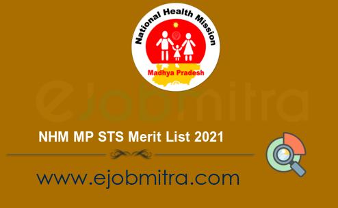 NHM MP STS Merit List 2021