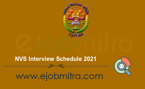 NVS Interview Schedule 2021