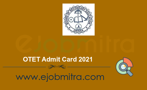 OTET Admit Card 2021